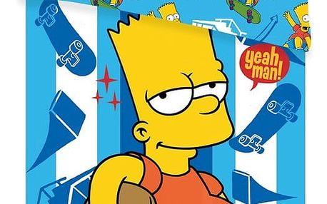 Jerry Fabrics Dětské bavlněné povlečení The Simpsons Bart skater, 140 x 200 cm, 70 x 90 cm