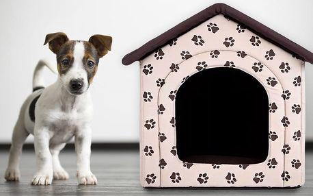 Ručně šité domečky pro psy: 4 velikosti a 2 barvy
