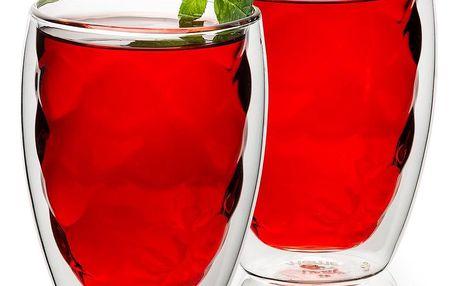 4home Termo sklenice Raspberry Hot&Cool, 250 ml, 2 ks