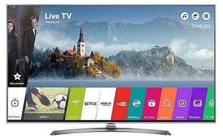 Televize LG 65UJ7507 stříbrná/titanium
