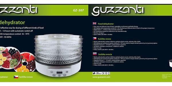 Sušička ovoce Guzzanti GZ 507 bílá3
