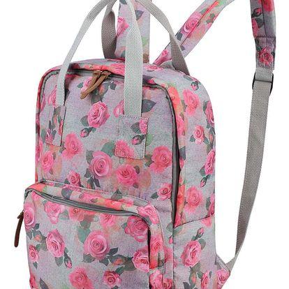 Dámský batoh Alpine Pro Masun s květinovým vzorem