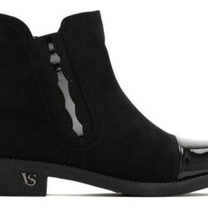 Dámské černé kotníčkové boty Beth 2133