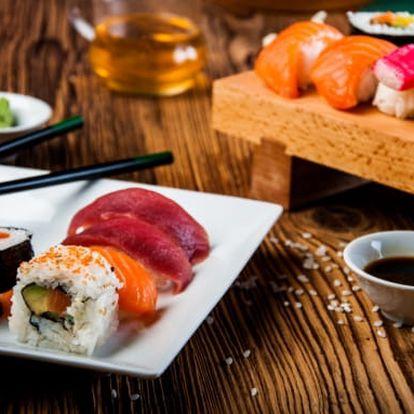 Lahodná asijská pochoutka 26 až 56 ks Sushi na Praze 1