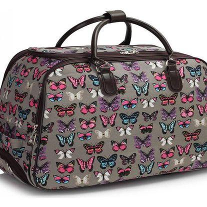 Dámská cestovní taška Butterfly 308A šedá