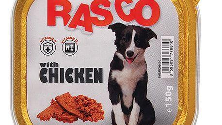 10× 150g paštika pro psy Rasco s kuřecím masem