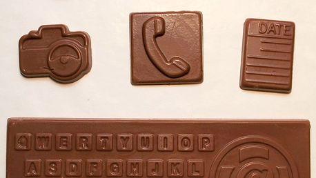 Čokoládové dárkové balení v obalu notebooku nebo tabletu