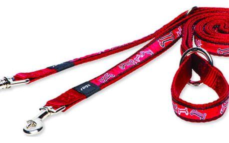 Přepínací vodítko Rogz Fancy Dress Red Bone