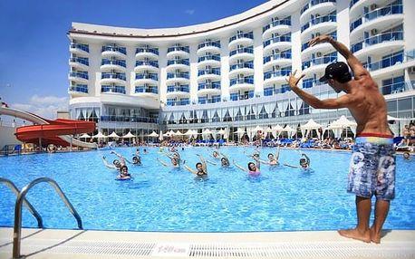 Turecko - Side na 8 dní, ultra all inclusive s dopravou letecky z Prahy 350 m od pláže