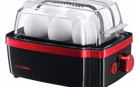 Vařič vajec Severin EK 3156 černý/červený