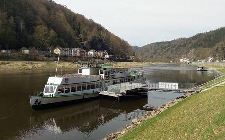 Výlet vlakem do Německa s plavbou po Labi až do Děčína