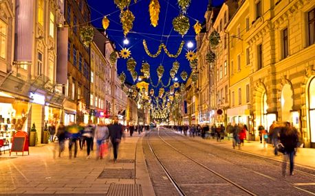 Celodenní adventní zájezd pro 1 do rakouského Grazu s vánočními trhy a průvodem čertů