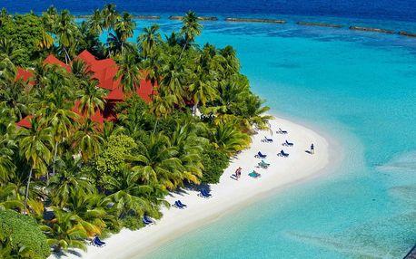 Maledivy - North Malé Atoll na 10 dní, snídaně s dopravou letecky z Prahy přímo na pláži