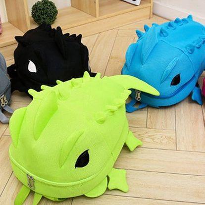 Veselé batůžky pro děti ve tvaru chameleona