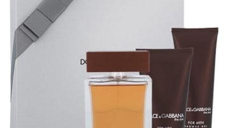 Dolce&Gabbana The One For Men dárková kazeta pro muže toaletní voda 100 ml + balzám po holení 75 ml + sprchový gel 50 ml