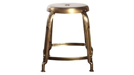 House Doctor Kovová stolička Define gold, žlutá barva, kov