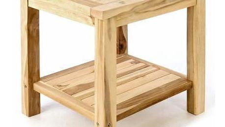 Divero 55327 Zahradní odkládací stolek z masivního teaku