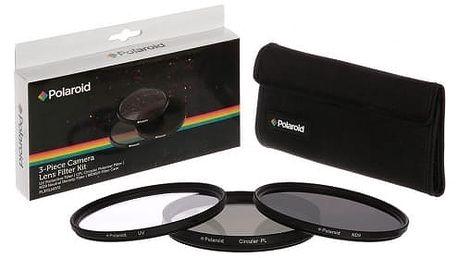 Filtr Polaroid 55mm (UV MC, CPL, ND9), set 3ks černý (PL3FILND55)