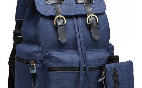 SET: Dámský námořnicky modrý batoh Dave 6704