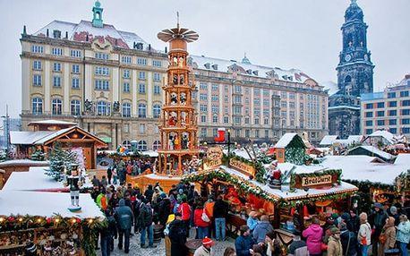 1denní adventní zájezd vlakem pro 1 osobu do Drážďan a Pirny a návštěva vánočních trhů