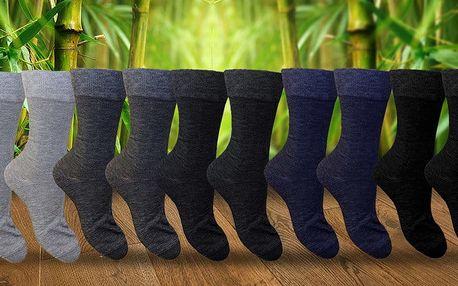 Vysoké pánské bambusové ponožky: 5 nebo 10 párů