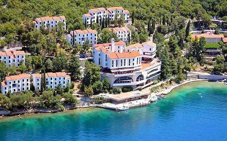 Chorvatsko - Kvarner na 8 dní, polopenze nebo bez stravy s dopravou vlastní přímo na pláži