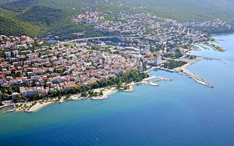 Chorvatsko - Crikvenica na 5 dní, bez stravy s dopravou vlastní 350 m od pláže