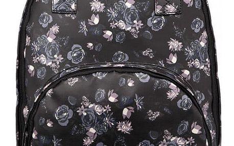 Dámský černofialový batoh Sakura 1658F