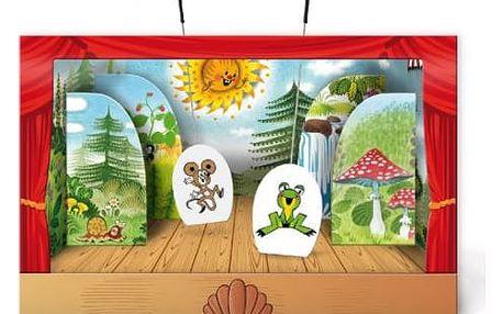 Papírové loutkové divadlo Krtek 6ks postaviček v krabici 34 x 23 x 4cm