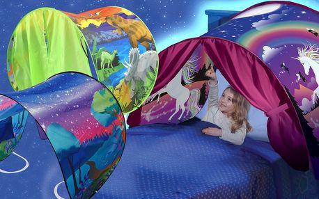 Pohádkový stan nad postel: 5 různých motivů