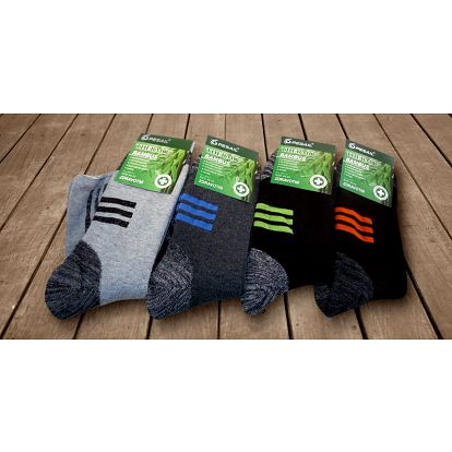 4 páry pánských bambusových termo ponožek