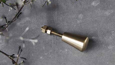 House Doctor Kovová úchytka Brass - 2ks, zlatá barva, kov