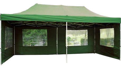 Garthen PROFI 395 Zahradní párty stan 3 x 6 - nůžkový - zelený
