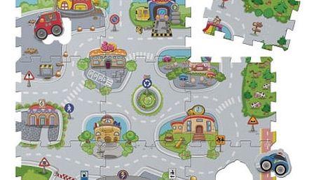 CHICCO Pěnové puzzle Mesto 30x30 cm, 9 ks