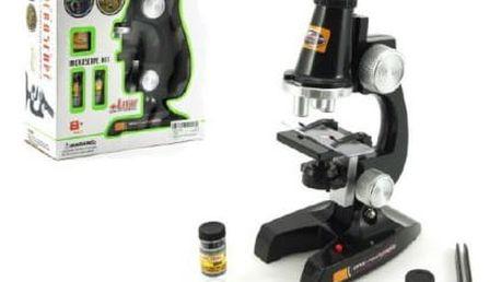 Mikroskop s doplňky plast 21cm na baterie se světlem
