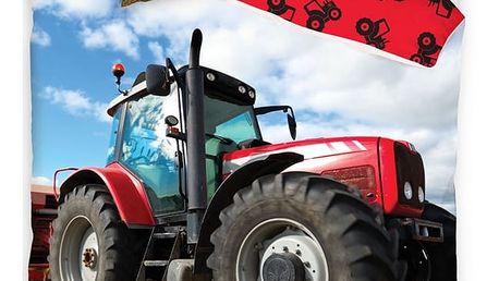 TipTrade Bavlněné povlečení Traktor, 140 x 200 cm, 70 x 90 cm