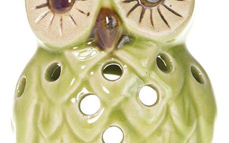 Aroma lampa Sova na čajovou svíčku s hladkou glazurou