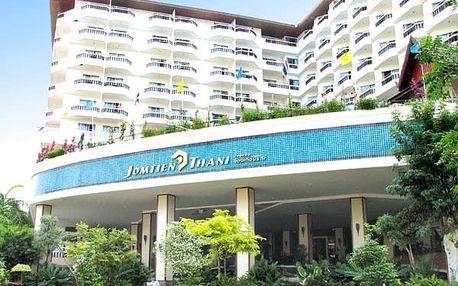 Thajsko - Pattaya na 10 dní, snídaně s dopravou letecky z Vídně nebo Prahy 500 m od pláže
