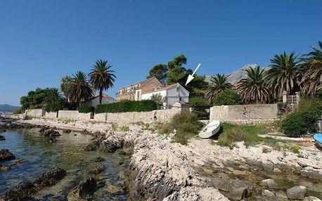 Chorvatsko - Orebič na 8 dní, bez stravy s dopravou vlastní 10 m od pláže