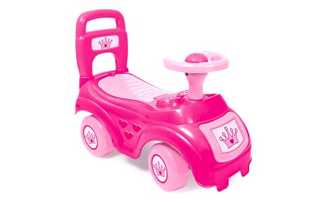 DOLU Odrážedlo auto s opěradlem, růžové