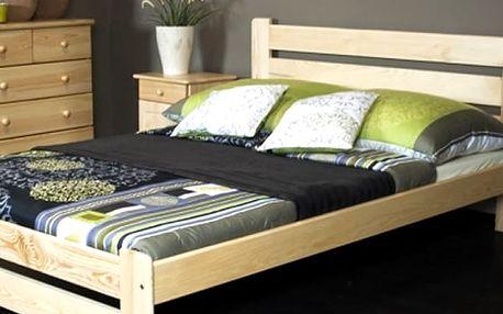 Kvalitní postele z masivního borovicového dřeva v různých provedení.