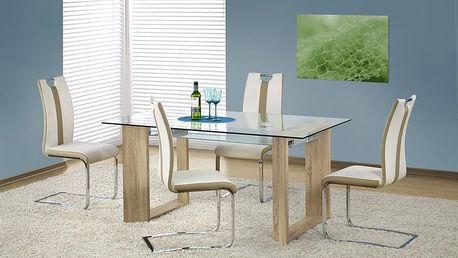 Skleněný jídelní stůl Herbert