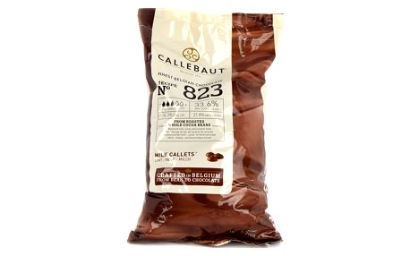 Callebaut Mléčná čokoláda, 1 Kg, No 823, 33,6 %