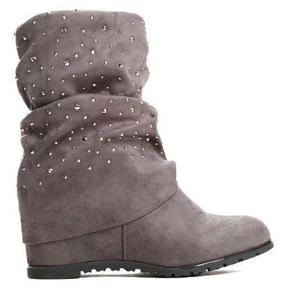 Dámské šedé kotníkové boty Carberry 01
