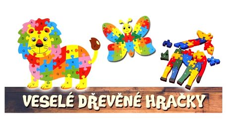 Vzdělávací dřevěné puzzle-HIT!