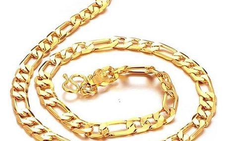 Řetízek pro muže - zlatá barva
