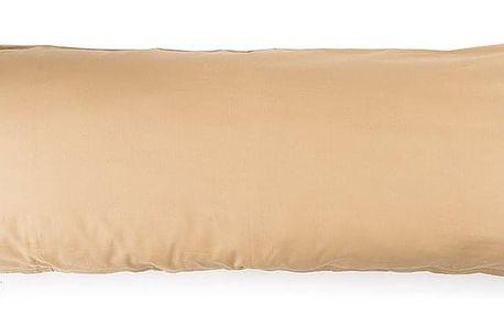 4Home povlak na Relaxační polštář Náhradní manžel béžová, 50 x 150 cm