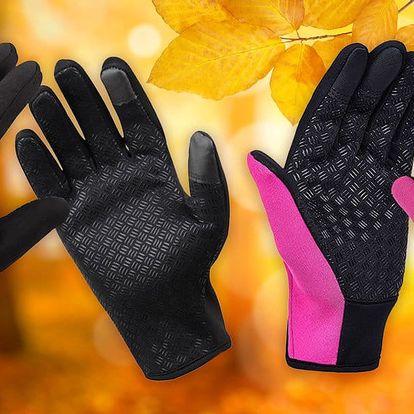 Zateplené voděodolné termo rukavice