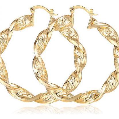 Dámské elegantní náušnice ve zlaté barvě