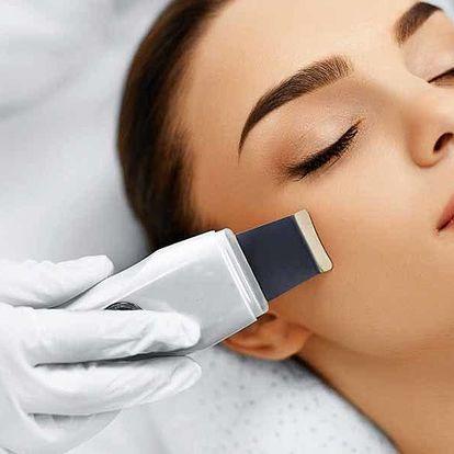 Čištění pleti ultrazvukem s ruční masáží obličeje